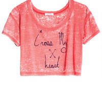 Cross My Heart Crop Tee