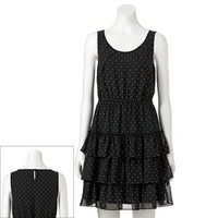 ELLE™ Polka-Dot Tiered Ruffle Dress