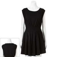 LC Lauren Conrad Solid Smocked-Waist Dress - Women's