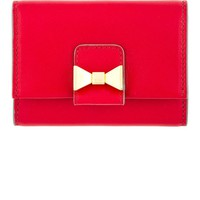 Red Leather Bobbie Card Holder