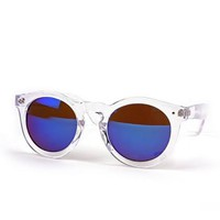 BLUE MIRROR - CLEAR SUNNIES