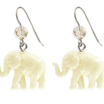 """Tiny Caravan"" Elephants - Ivory 