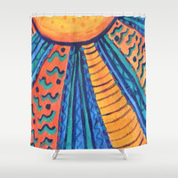 Sun Rays Shower Curtain by gretzky | Society6