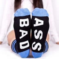 Arthur George by Robert Kardashian BAD ASS Street Wear Socks BLACK / BLUE
