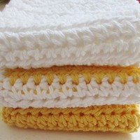 100% Cotton Eco Friendly Crochet Washcloth / Dishcloth
