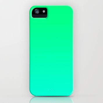 Lime Mint & Turquoise  iPhone & iPod Case by KrashDesignCo.