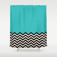 Follow the Sky Shower Curtain by Bianca Green | Society6