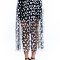 Thriving Miss Daisy Mesh Midi Skirt