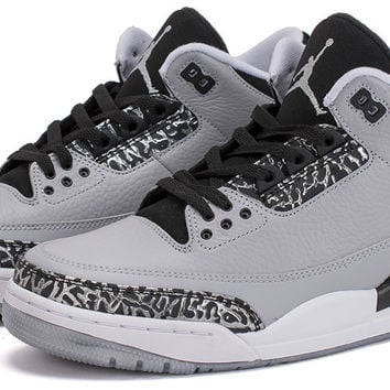 Bows & Arrows - Air Jordan 3 Retro (Wolf Grey/Metallic Silver/Black White)