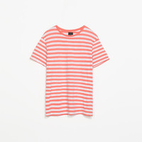 STRIPED SLUB KNIT T-SHIRT