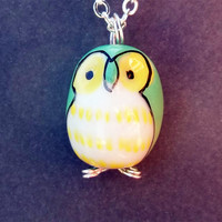 Barn Owl Necklace Bird Charm Friendship Gift