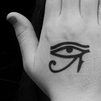 Eye of Horus - Temporary Tattoo - Ancient Egyptian Tattoo