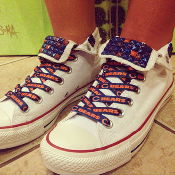 Custom Chicago Bears Converse White High Tops - Chuck Taylors - ALL SIZES & COLORS!
