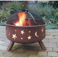 Landmann Big Sky Stars and Moon Fire Pit - 283XX - Fireplaces & Accessories - Decor