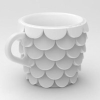 Fish Scales Cup by cunicode on Shapeways