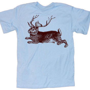 Mens TShirt funny JACKALOPE shirt s m l xl xxl by happyfamily