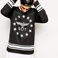 Boy London Hockey Top with Stars Eagle Logo and Back Print -