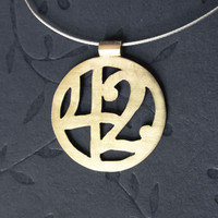 Hitchhiker's Guide 42 Pendant by PicaPicaPress on Etsy