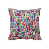 feather grid throw pillow from Zazzle.com