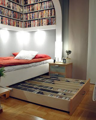 bed and books, what else would you need!