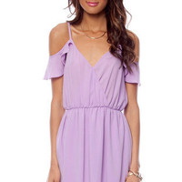 Off Your Ruffles Dress in Lavender :: tobi