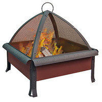 Tudor Fire Pit, Terracotta Finish | Outdoor and Patio Furniture| Furniture | World Market