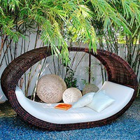 Sampan Outdoor Wicker Day Bed