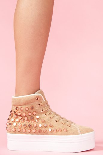 Homg Stud Sneaker - Taupe in What&#x27;s New at Nasty Gal