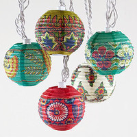 Rio Carnaval Stripe Paper String Lights, Set of 35 | Lighting| Home Decor | World Market