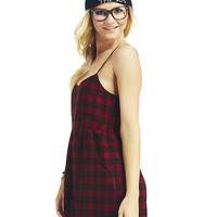 Plaid Tank Romper | Wet Seal