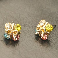 Wrapping In Style Rhinestone Earrings