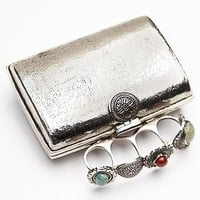 From St. Xavier Womens Zane Clutch - Silver, One Size