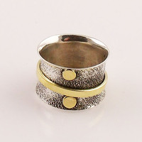 Spinner Ring - Two Tone Single Spinner