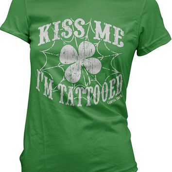 Women's Kiss Me I'm Tattooed Tee by Cartel Ink