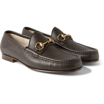 Gucci - Horsebit Grained-Leather Loafers | MR PORTER