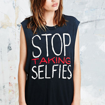 UNIF Stop Taking Selfies Tank - Urban Outfitters