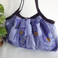 Japanese Kimono Pattern Granny bag purse flowers by MofLeema
