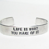 Inspirational jewelry bracelet hand stamped by WyomingCreative