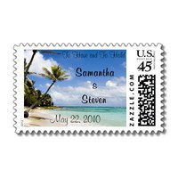 Beach Wedding Stamps from Zazzle.com