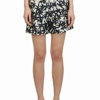 KENZO FANCY PALMS STRIPED PLEATED SHORTS - WOMEN - KENZO - OPENING CEREMONY