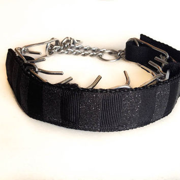 Custom Prong Collar Cover Black