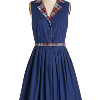 Beacon of Charm Dress in Plaid | Mod Retro Vintage Dresses | ModCloth.com