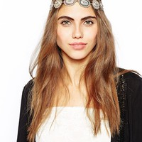 River Island Indian Summer Jewelled Stretch Headband