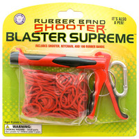 Rubber Band Shooter Red/Black One Size For Men 18455632901
