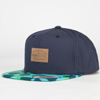 Quiksilver Puff Mens Snapback Hat Navy Combo One Size For Men 23447421101