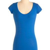 Learn the Basics Top in Blue | Mod Retro Vintage T-Shirts | ModCloth.com