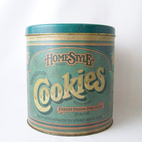 vintage homestyle cookies container storage by RecycleBuyVintage