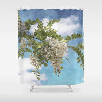 Flowers I Shower Curtain by VanessaGF
