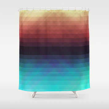 Geometric 08 Shower Curtain by VanessaGF