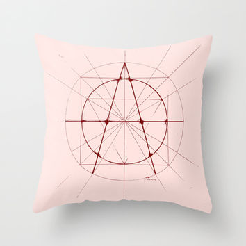 XXIst Century Anarchy Throw Pillow by LOVEDART